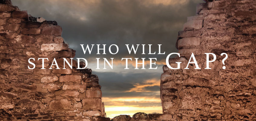 WHO WILL STAND IN THE GAP?